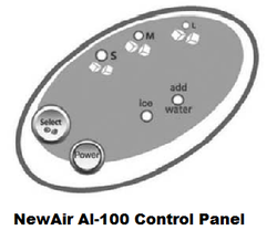 NewAir AI-100 Control Panel