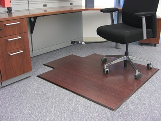 Compare Office Chair Mats Bamboo Wood Laminate Or Plastic - Office chair mat
