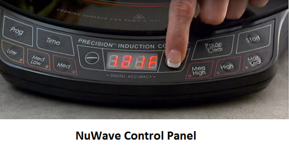 NuWave Pic Pro Control Panel