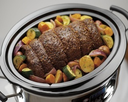 Food cooked in Hamilton Beach slow cooker.