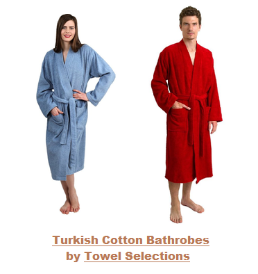 Turkish Cotton Bathrobes by Towel Selections