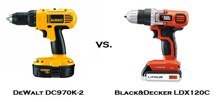 DeWalt vs. Black&Decker Cordless Drills