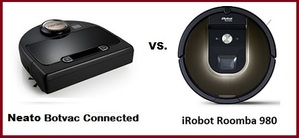 comparing top vacuuming robot irobot roomba 980 and neato. Black Bedroom Furniture Sets. Home Design Ideas