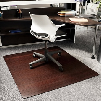 Bamboo Office Chair Mat & Compare Office Chair Mats: Bamboo Wood Laminate or Plastic ? - Top ...