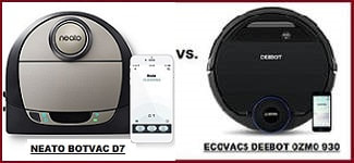 Comparing Top Wi-Fi Robot Vacuums:  ECOVACS DEEBOT OZMO 930 vs. NEATO BOTVAC D7 CONNECTED
