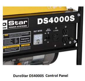 DuroStar DS4000S Control Panel