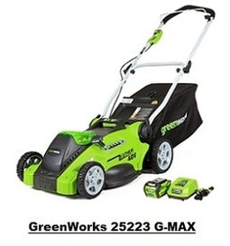 GreenWorks 25223 G-MAX Cordless Lawn Mower