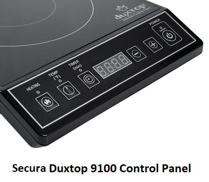 Secura Duxtop 9100 Control Panel