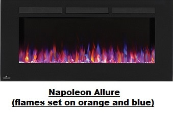 Napoleon Allure Electrical Wall Mounted Fireplace