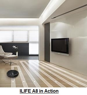 ILIFE A8 Vacuuming Robot in Action