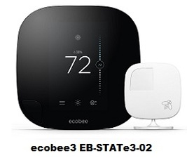 ecobee3 EB-STATe3-02 Wi-Fi Thermostat