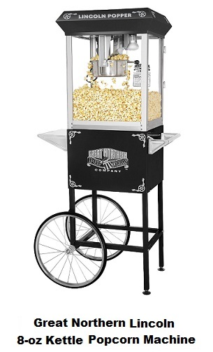Great Northern Lincoln 8-oz Kettle Popcorn Machine With Cart