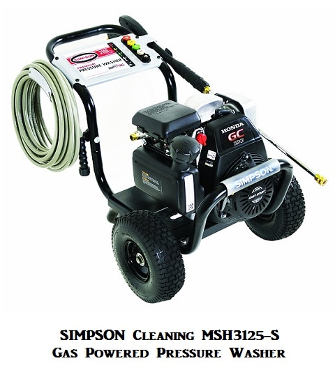Simpson Cleaning MSH3125-S Gas Powered Pressure Washer