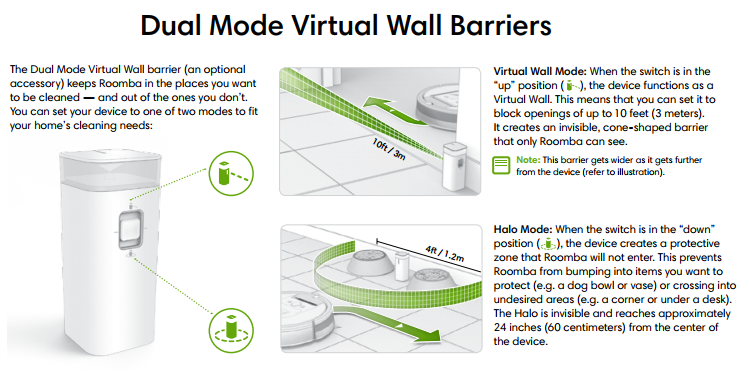 Dual Mode Virtual Barriers