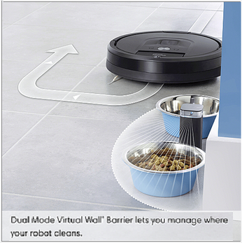 Roomba Dual Mode Viurtual Wall Barrier  in Action