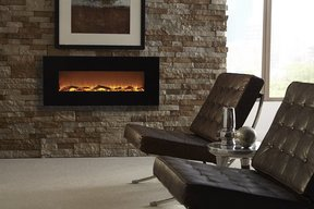 Touchstone Onyx Wall Mounted Fireplace