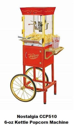 Nostalgia Electric CCP510 6-oz Kettle Popcorn Machine With Cart