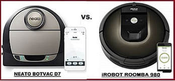 Comparing Roomba 980 with Neato Botvac D7 Connected