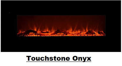 Touchstone Onyx Electrical Wall Mounted Fireplace