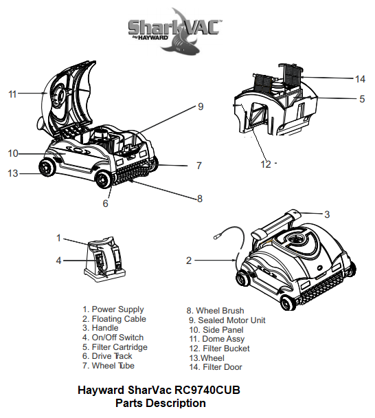 Hayward SharkVac Parts