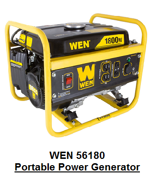 WEN 56180 Portable Power Generator